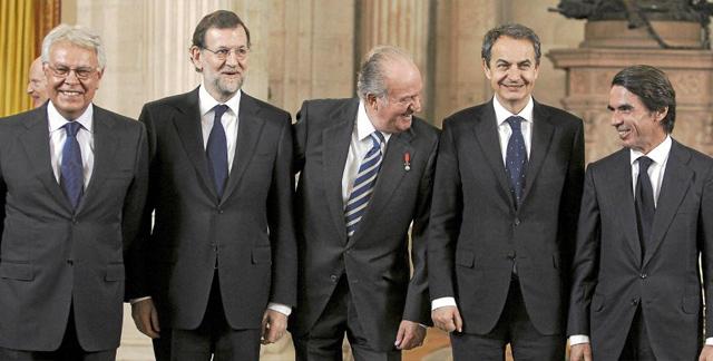 politicos-españoles-con-el-rey