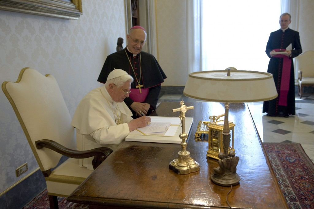 Pope signs encyclical