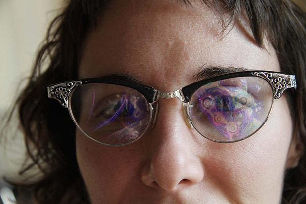 Señora-gafas
