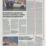 El periódico Hoy Guareña se hace eco de la campaña de Falange Auténtica por la Justicia Social