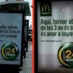 McDonald's cambia la palabra España por aquí en sus carteles de Cataluña