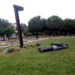 Derriban la estatua homenaje a Jordi Pujol en Premià de Dalt (Barcelona)