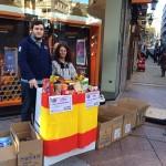 Falange Española de las JONS y Grupo Patriota recogen alimentos para familias necesitadas en Oviedo