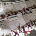 Banco Santander compra las portadas de los periódicos españoles