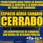 Falange Auténtica de las Islas Canarias contra la privatización parcial de los aeropuertos canarios