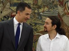 Felipe VI y Pablo Iglesias
