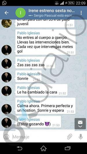 pablo-iglesias-whatsapp-irene-montero