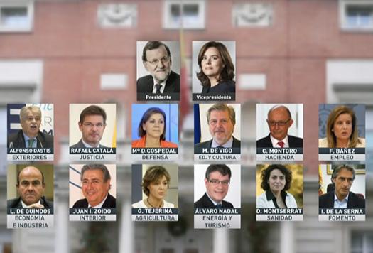 Conoce los nombres del nuevo gobierno de espa a el municipio for Gobierno de espana ministerio del interior