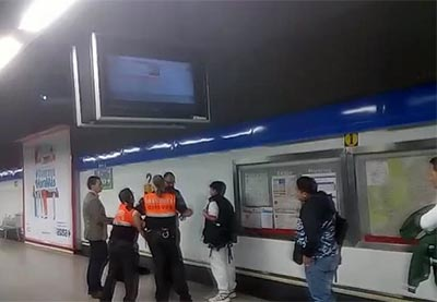 hombre-metro-enfrentamiento-madrid