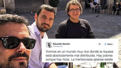 Alberto Garzón, Eduardo Garzón y Facu Diaz