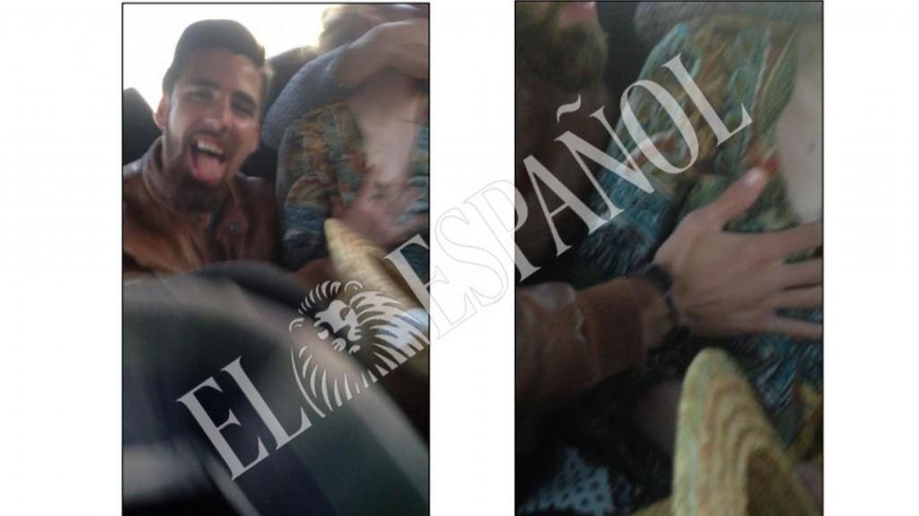 Jesús Escudero, a la derecha de la joven de Pozoblanco en dos de las escenas del vídeo investigado