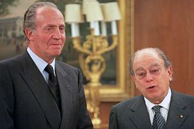 Image result for jordi pujol y rey juan carlos