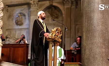 iman-sali-salem-recita-coran-iglesia-santa-maria copia