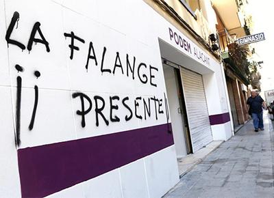 Sede de PODEMOS de Alicante, con pintadas