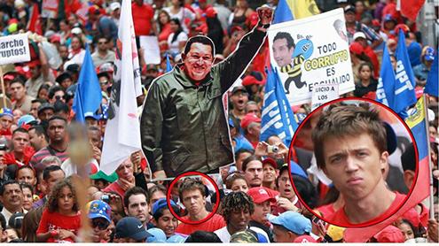 errejon-podemos-manifestacion-chavista-maduro