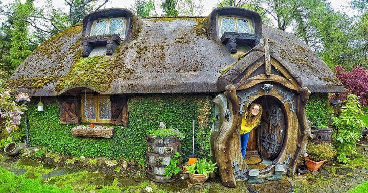 Un fan del se or de los anillos se hace una casa de hobbit - La casa de los hobbits ...