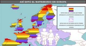 Mapa matrimonio homosexual