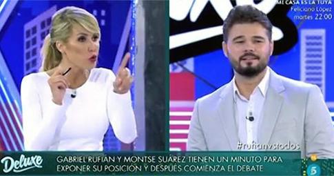 Montse Suarez y Gabriel Rufián
