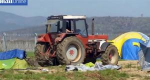 agricultor destroza tiendas refugiados