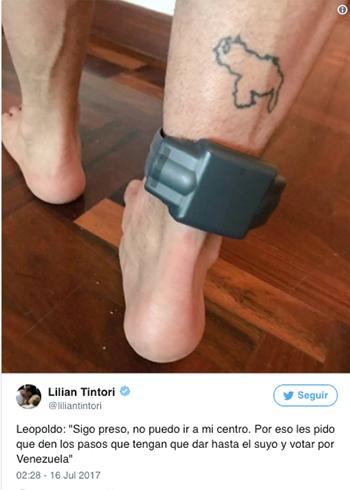 Pulsera del preso Leopoldo López