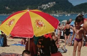 sombrilla bandera de España