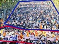 Manifestación atentados islamistas Barcelona