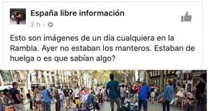 manteros Ramblas de Barcelona