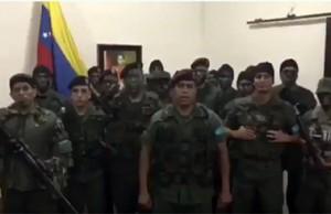 militares venezolanos sublevados