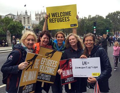 refugiados mujeres