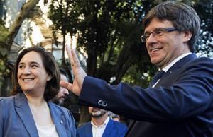 Colau y Puigdemont