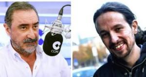 Carlos Herrera y Pablo Iglesias