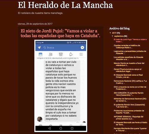 mensaje de Joan Pujol nieto de Jordi Pujol