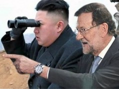 Rajoy y Kin Jong Un
