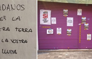 atacan la tienda de los padres de Albert Rivera