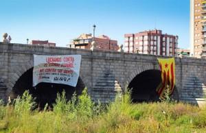 estelada puente segovia en madrid