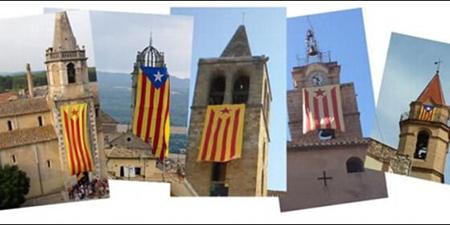 Bandera separatista iglesia