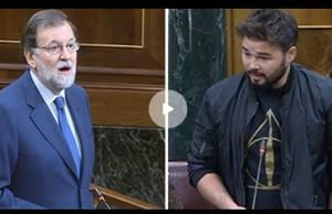 Rajoy y Rufian Congreso