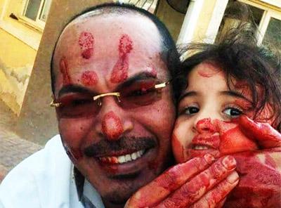 Padre e hija musulmanes
