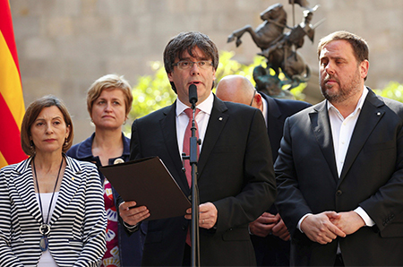 Puigdemont. Forcadell y Junqueras