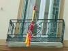 Bandera de España ultrajada