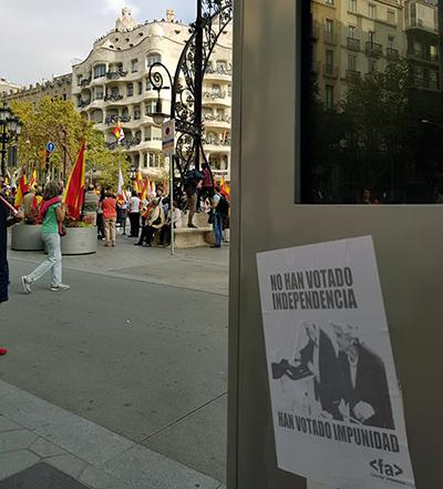 Campaña Falange Auténtica en Barcelona