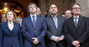 Forcadell, Puigdemont, Junqueras y Artur Mas