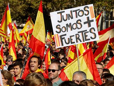 Banderas de España en Barcelona