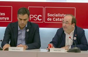 Pedro Sánchez e Iceta