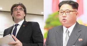 Puigdemont y Kin Jong Un