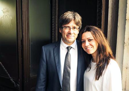Puigdemont y Marcela Topor