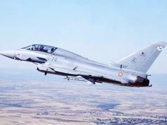 Eurofighter estrellado Albacete