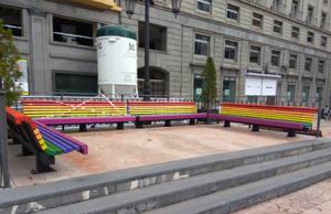 bancos bandera homosexual