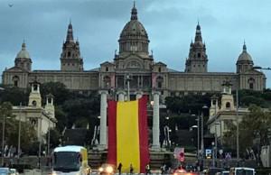 Bandera de España en Barcelona