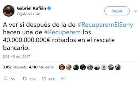 Gabriel Rufián Twitter